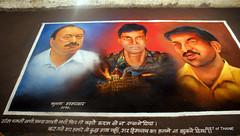 Rangoli Exhibition - 26/11 Martyr Trio (Raju Bist) Tags: thane rangoli newgirlsschool diwali2010 rangvalli