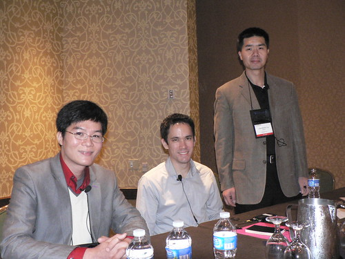 Michael Wu, Tom Lento, and Lawrence Lui at SocialTech 2010
