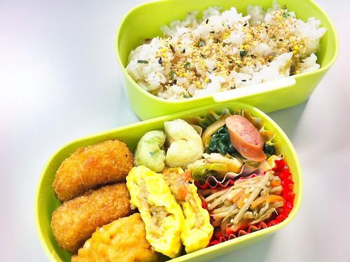 今日のお弁当 No.48 – 鶏たまそぼろ