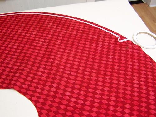 Batik Christmas skirt