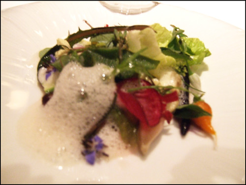 Manresa (Los Gatos) - Vegetables from the garden and burrata cheese, vegetable juices