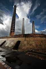 Sydney Park Brickworks 3 (David Boehm) Tags: park blue sky tower clouds pentax sydney stack brickworks k10d pentaxk10d