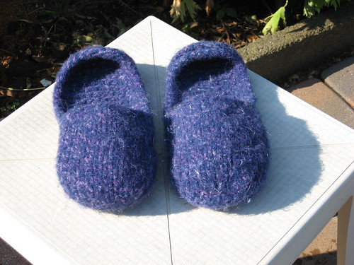 Slippers After Felting