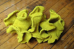 yellow double spiral (sweetie pie press) Tags: crochet craft mathematics hyperboliccrochet