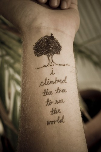 "18 I Climbed The Tree. by xtrapop. ashi says: Not ""officially"" a tattoo,"
