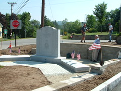 Veterans' Memorial getting the finishing touches before Heritage Day, August 11th