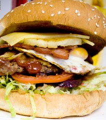 Hamburger with the lot from Metzis (Vanessa Pike-Russell) Tags: food australia hamburger nsw reviews illawarra shellharbour pc2528 mountwarrigal metzies metzistastytakeaway foodfeature