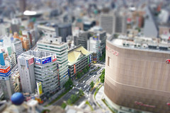 Miniature Osaka (bradley gaskin) Tags: city urban color colour japan photoshop manipulated real toy miniature cityscape pentax mini tiny osaka namba claude tiltshift modellook 10faves tiltshiftfake k100d explore69aug202007
