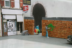North Crapton Station (slinkachu) Tags: street people art norway little nuart slinkachu