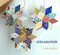 """* Giramundo: """"Flor de Mandacaru"""" (Carla Cordeiro) Tags: star estrela patchwork mbile giramundo retalhos estreladafelicidade"""