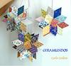 """* Giramundo: """"Flor de Mandacaru"""" (Carla Cordeiro) Tags: star estrela patchwork móbile giramundo retalhos estreladafelicidade"""
