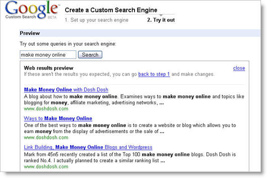 Google Custom Search 3