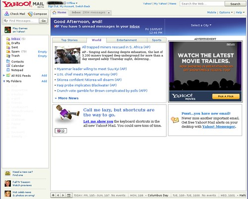 Yahoo! Mail Beta Version