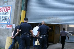 Workin in a Coal mine goin downtown (weissfoto) Tags: chinatown cops nypd jail arrest handcuffed manhattandetentioncomplex