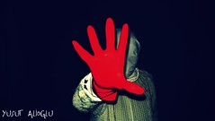 The Unborn © (yusuf_alioglu) Tags: world red portrait people white selfportrait man black green me blackbackground self work turkey dark photography photo flickr colours peace photographer darkness earth invisible awesome fear panasonic human stop glove greenlight cardigan invisibleman obscure redglove tokat theunborn darkwork yusufyusuf85 yusufalioglu idarkbg