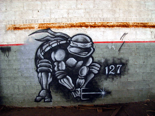 Accept. Mutant ninja turtle graffiti