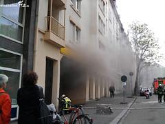 Pkw-Brand in Tiefgarage Blücherstraße 11.05.10