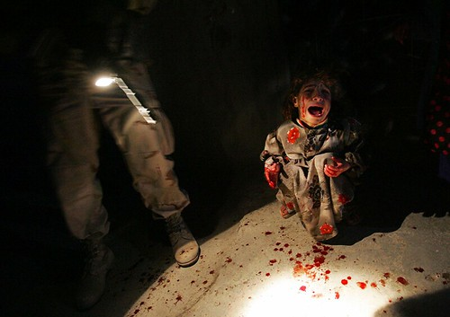 An Iraqi girl screamed after her parents were shot and killed by American soldiers (NYTimes)