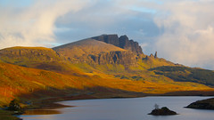 Storr, Skye, Scotland (ericwyllie) Tags: morning trees mountains colour skye tourism clouds sunrise landscape dawn scotland landscapes eric time outdoor background places backgrounds leisure loch 2010 oldmanofstorr ericwyllie imagetype photospecs stockcategories