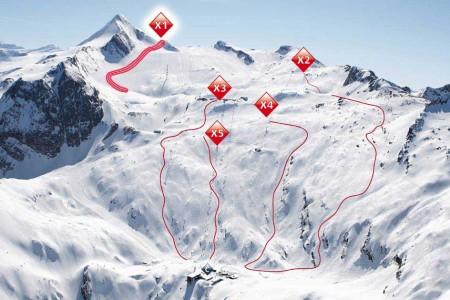 Kitzsteinhorn - pět značených freeridových tratí