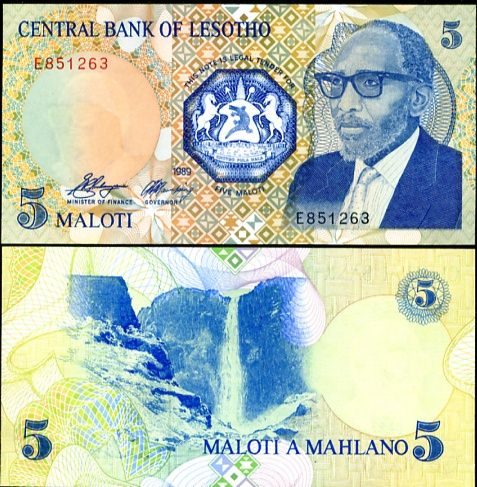 5 Maloti Lesotho 1989, P10