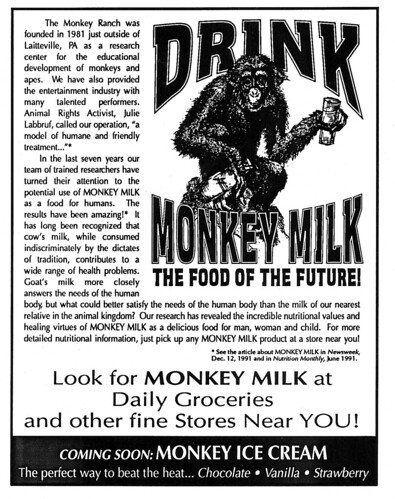 Monkey Milk ad