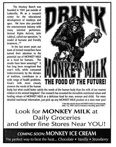 Monkey Milk ad