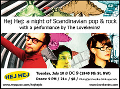 The Lovekevins @ Hej Hej -- July 10 (Seeking Irony) Tags: dc concert flyer sweden swedish hejhej lovekevins
