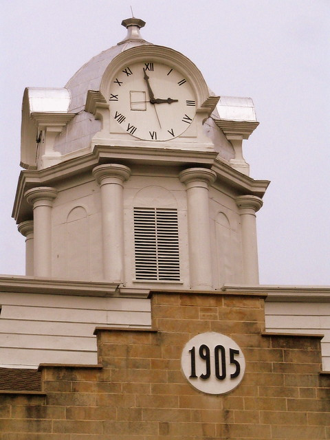 Closeup of the clock tower - Cumberland Co. Courthouse
