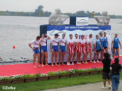 M4x medal ceremony (rowing for the masses) Tags: 2005 sports sport japan race teams team slovenia rowing regatta athletes athlete races gifu rower rowers slovenian slovenians worldrowingchampionship