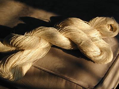 Handspun Linen from Tow Flax