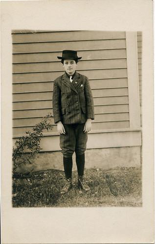 Postcard: Knickerbocker Lad