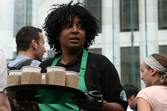 Starbucks lady - by Giorgio Montersino