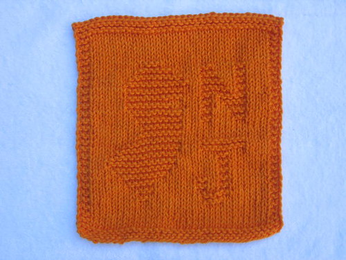 Jersey orange washcloth
