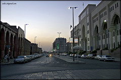 Morning time in a street of Madinah, just next to Masjid Nabawi