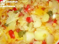 Tortilla cho-pim en huevo