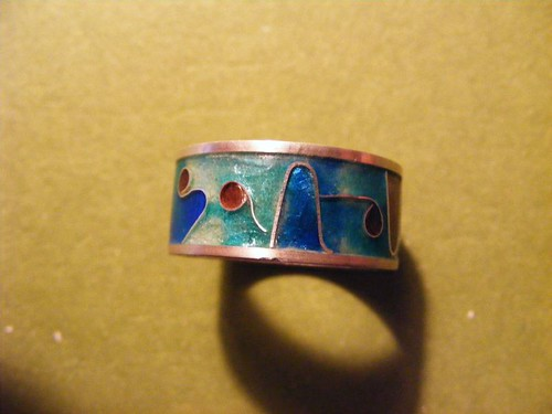 Jewelry - Enameled Ring Detail