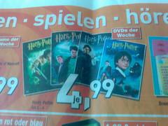 Harry Potter auf DVD für jeweils 4,99 Euro