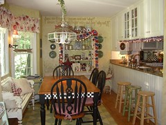 Nook area of my kitchen... (Oh So Very...) Tags: kitchen cozy cottage nook checks