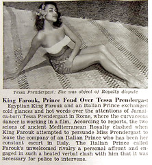King Farouk Feud Over Tessa Prendergast - Jet Magazine, October 29, 1953 (vieilles_annonces) Tags: old people italy usa black rome history vintage magazine print scans fifties photos african negro retro ephemera nostalgia photographs american rights jamaica 1950s actress blacks americana colored 50s magazines jamaican folks oldphotos civilrights blackhistory 1953 vintagephotos africanamericanhistory peopleofcolor vintagephotographs vintagemagazine ursulaandress coloredpeople normanmanley negrohistory kingfarouk coloredfolk blackmagazines tessaprendergast blacknews tessawelborn bondfilm mariethereseprendergast louisprendergast noelnethersole