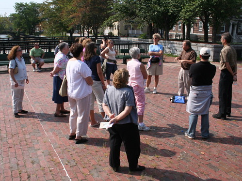 Teachers at ecumenical plaza