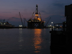 The rig at night