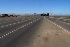 Never seen the Bay Bridge toll plaza this empty (juicyrai) Tags: sanfrancisco road geotagged oakland empty toll baybridge tollway i80 yerbabuena lanes ybi yerbabuenaisland tollplaza geo:lat=37824718 geo:lon=122315536
