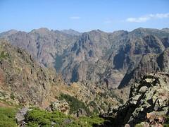 Dans le versant Sud du Ceppu: le versant Pittinaghja et le massif de Bonifatu