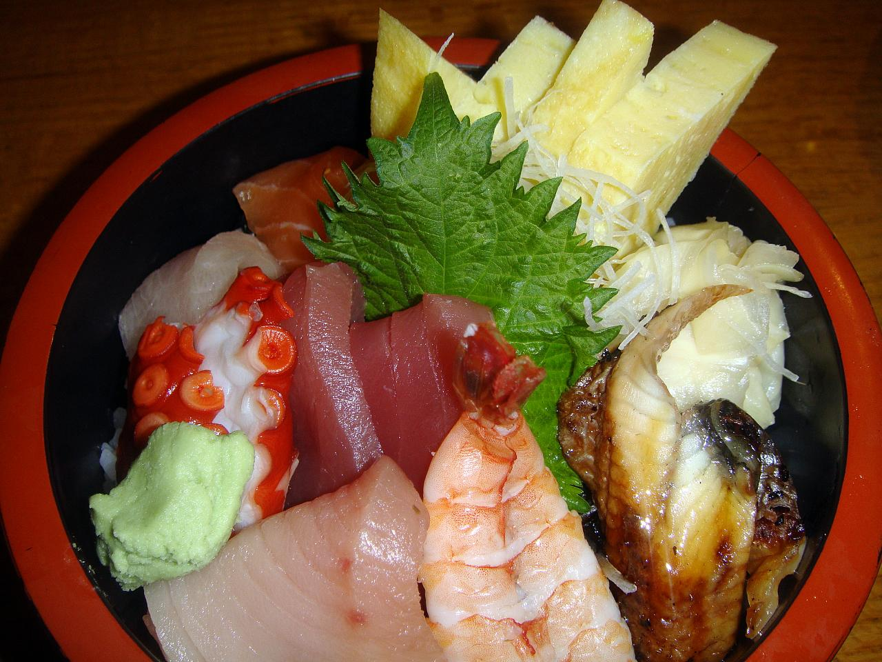 Chirashi Don close up