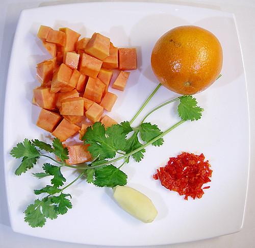 木瓜甜酸醬  (Chutney)-090105
