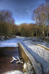Sutton Park - Bridge (>Tom Manning<) Tags: park bridge winter sunset sky snow tree ice beautiful clouds interesting suttoncoldfield hdr suttonpark hdrsunset hdrsnow suttonparkhdr