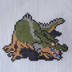 Green Dragon (benjibot) Tags: crossstitch crafts videogames crop nes dragonwarrior reshoot