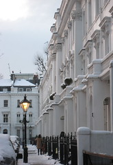 Hereford Square, Londres / London (blafond) Tags: uk morning winter light england white london architecture streetlight lumière hiver lamppost londres angleterre icy blanc gel lampadaire matin southkensington gelé herefordsquare