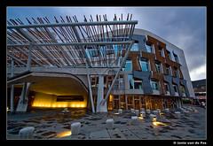 Scottish Parliament Building (J. van de Pas) Tags: uk trip building island scotland boat edinburgh ship alba britain united great scottish kingdom parliament na forth gb firth the linne sighseeing dùn halba èideann pàrlamaid foirthe